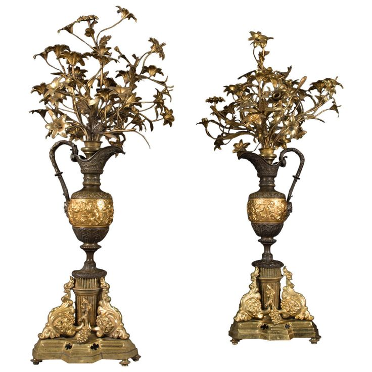 Pair of Large French Gilt Bronze and Patinated Vase Form Candelabras FOR SALE • $14,400.00 • See Photos! Money Back Guarantee. Why buy from us? 1. 100% Guaranteed Customer Satisfaction! 2. Free Shipping in the USA! 3. 14-day money back guarantee! 4. All items always 100% guaranteed as described! A Pair 291969477196
