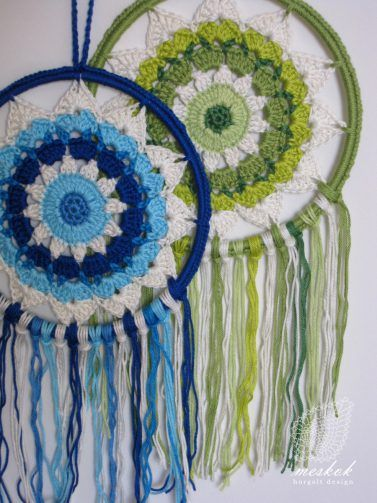 Crochet dreamcatcher - meskok.design http://meskok.hu/termekek/horgolt/napszemvirag-alomfogo/