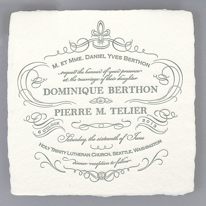 Brides.com: Wedding Invitations by Location. Historic Site. French Quarter invitation, $745,  Oblation Papers & Press