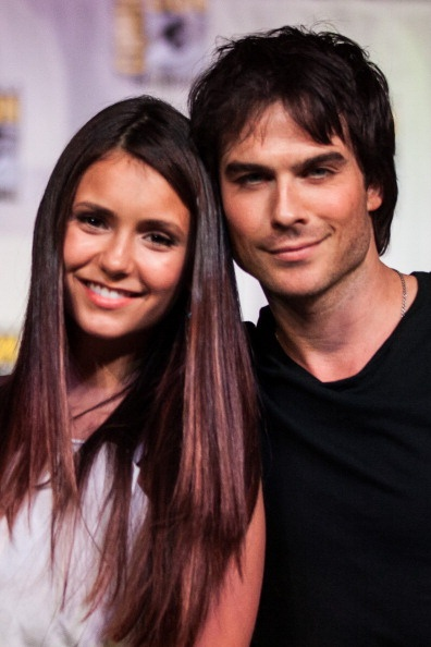 Nina Dobrev  Ian Somerhalder. They called and asked if you and I wanted to be sister wives. Are you in??