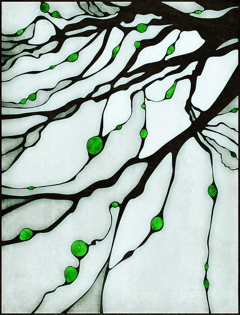 tree branches stained glass.