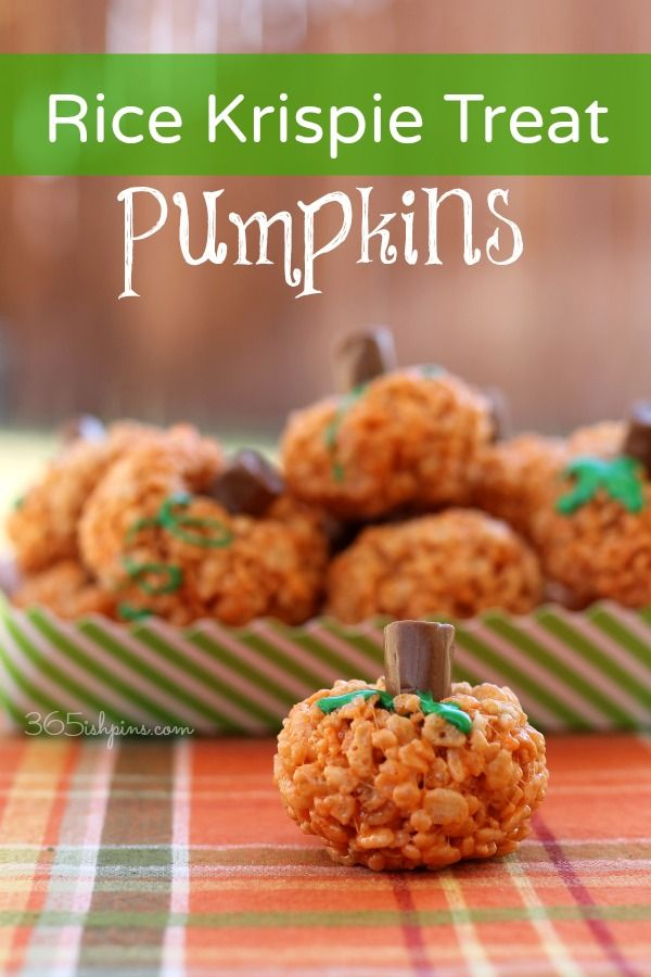 My kids love to roll these and squish the candy stems into their pumpkins! What a fun Fall/Halloween snack! #halloween #partysnack