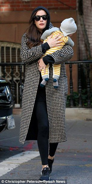 Incognito: Liv Tyler and her rumoured fiancé David Gardner got lunch at Sant Ambroeus with...
