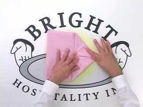 simple napkin folding instructions