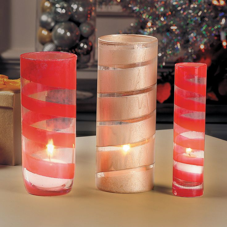 Painted Candle Vases - OrientalTrading.com
