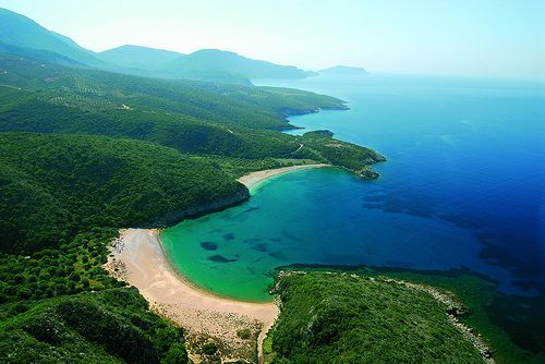 Marathou a secluded beach cove at some point along Messinia's immaculate #beach #greece #messinia
