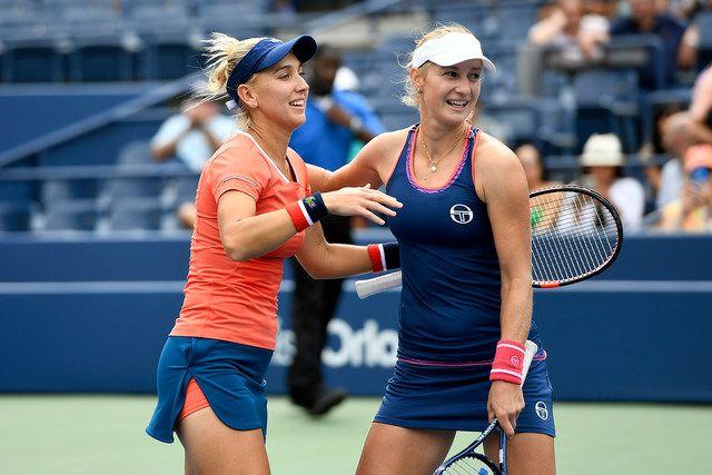 September 06, 2016 - Ekaterina Makarova and Elena Vesnina react after winning in…