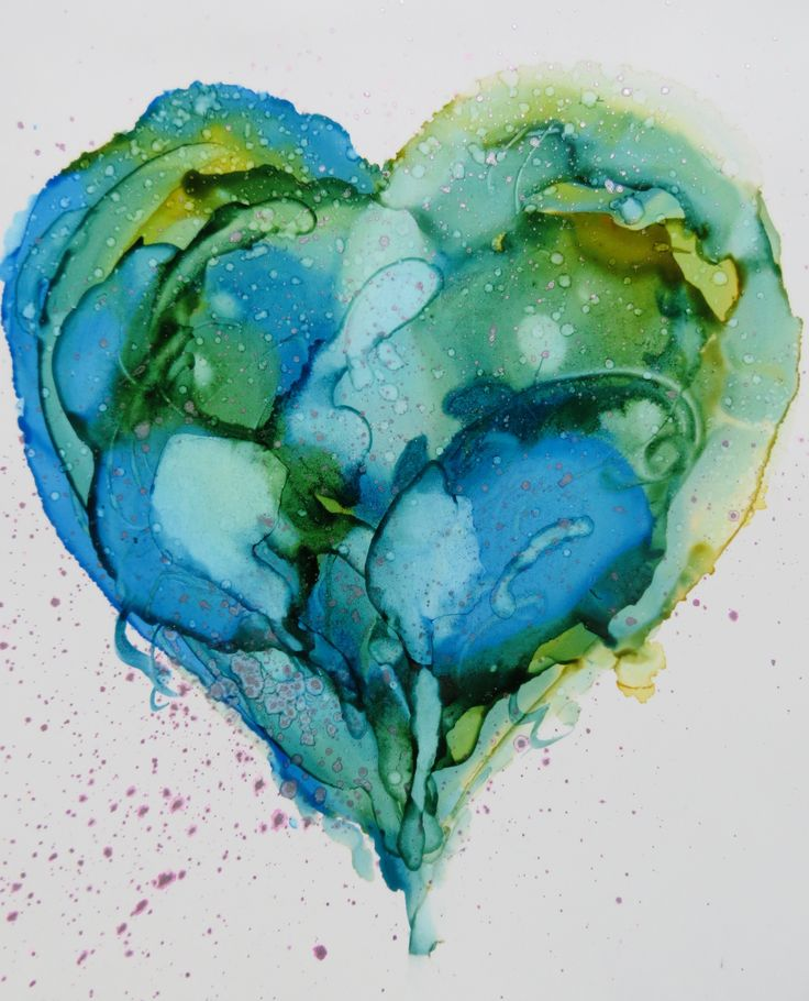 Love to our Planet. Alcohol Ink on Yupo - Helen Cook