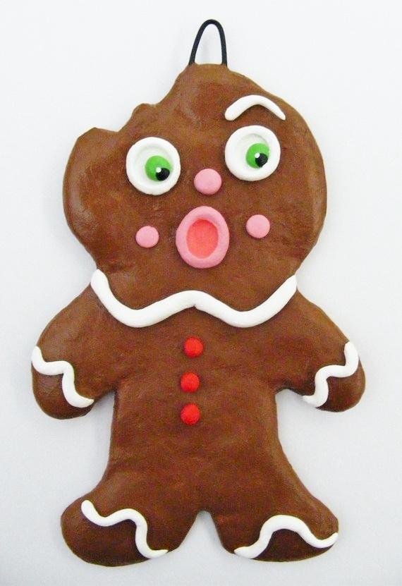 Bitten Gingerbread Man Ornament: Bitten Gingerbread, Christmas Cheer, Crafty Christmas, Men Ornaments, Gingerbread Houses, Gingerbread Christmas, Gingerbread But, Gingerbread Goodies, Gingerbread Memories