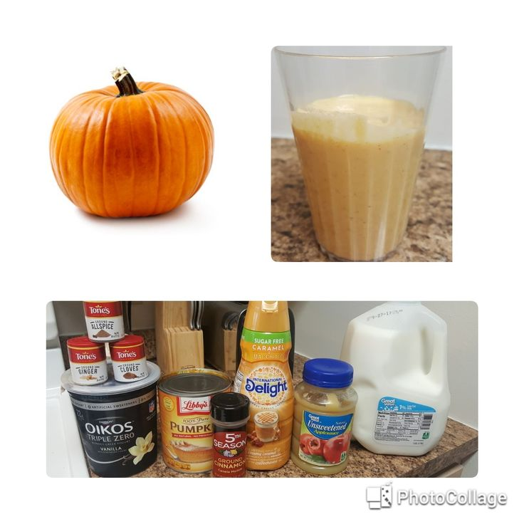 Pumpkin Apple Smoothie - Fall is here, and so is everything Pumpkin! And I love Pumpkin! I've been trying to eat a little healthier and I decided to come up with a pumpkin smoothie that wasn't loaded in sugar but was also tasty. After playing around with ingredients I finally found the right mixture, and my kids love it too!  1 cup of pumpkin 1/2 cup yogurt 1/2 cup unsweetened applesauce 1/4 cup sugar free creamer 1/4 to 1/2 cup of milk depending on desired thickness Sprinkle in spices and…