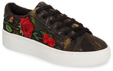 Steve Madden Bertie Floral Appliqu? Sneaker (Women)