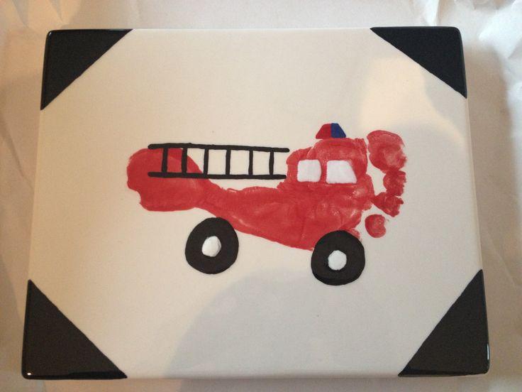 Feuerwehrwagen-Fußabdruck