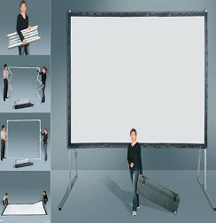 ~Fast fold screen  ~size:100inch to 500inch   ~Format:4:3 ,1:1 and 16:9  ~Material: PVC