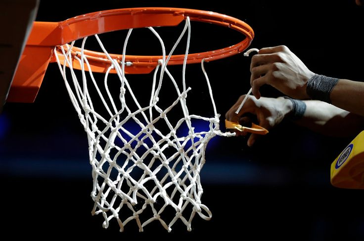 """Acrophobia and Aichmophobia (haiku) """"It's Werner's ladders - and Fiskars' scissors for net - cutting champions"""" College basketball's rite of spring — cutting down the net after a big victory — comes with a snip of danger."""