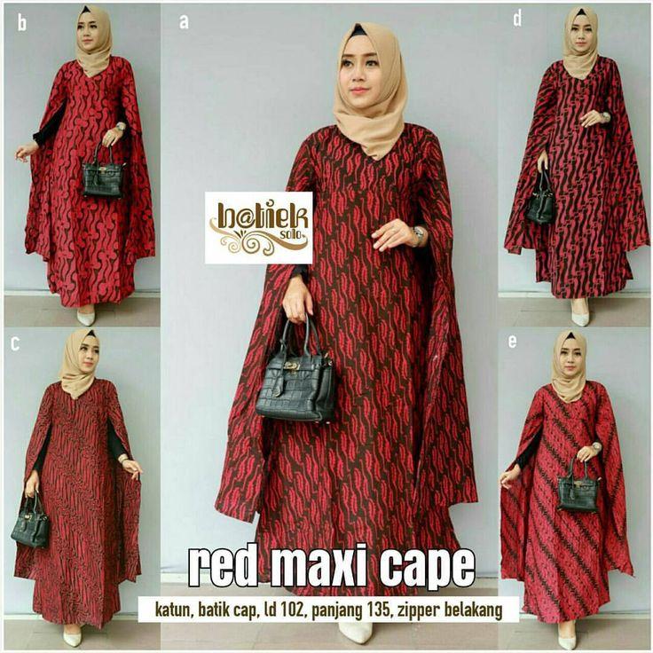 Red Maxi Cape Harga Rp. 155.000 Katun batik cap Allsize ld 102 cm Panjang 135 cm Zipper belakang Order WA 085647595014 Pin BB 5b87c4bf Buka senin - sabtu. Minggu slow respon =============== #bajubatikmodern #bajumurah #bajubatikmura...