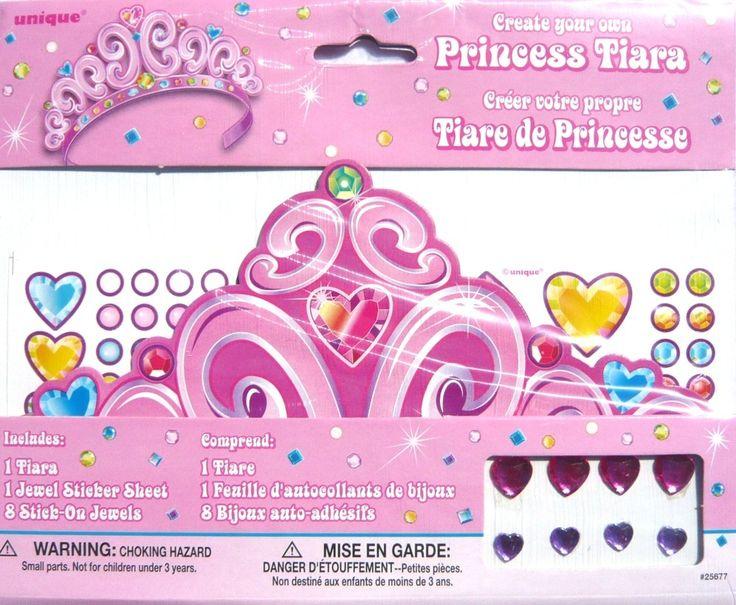 Create Your Own Pink Princess Tiara - Birthday Party Favour Game Prize