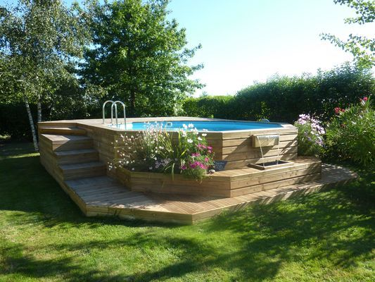 Les 65 meilleures images du tableau jardin sur pinterest for Construction piscine 65
