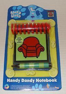 Orig 1998 Steve's Blues Clues Handy Dandy Notebook w Crayon Version 1
