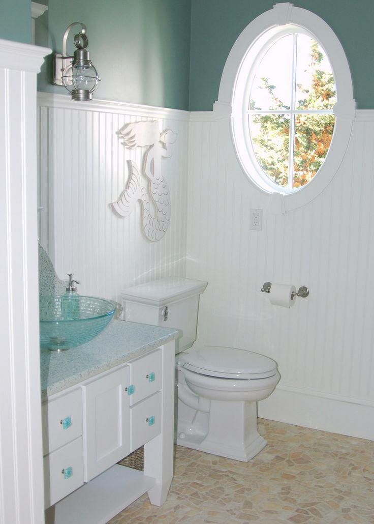 Powder Room Sietto Glass Hardware Recycled Glass