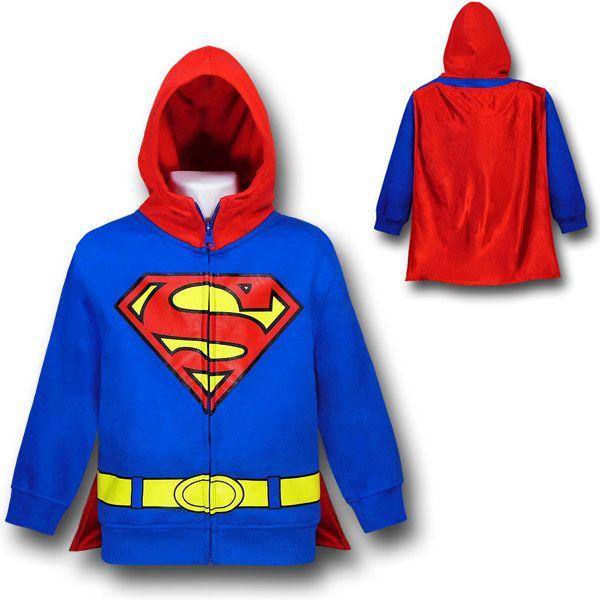 Superman Kids Red Hood Costume Hoodie $31.99