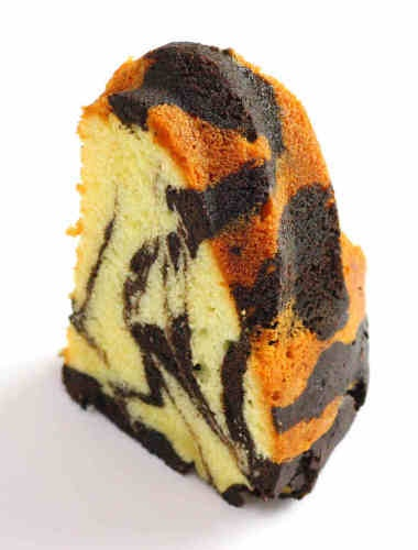 """We will provide a visitor with this """"marble cake"""" in our tearoom in October.   Although this seems to be """"Calico cake"""", it is a """"Marble cake."""""""