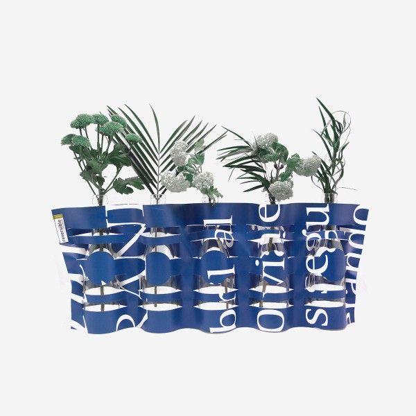 Vase Dékofleur en bâche publicitaire recyclée - Reversible Eco design