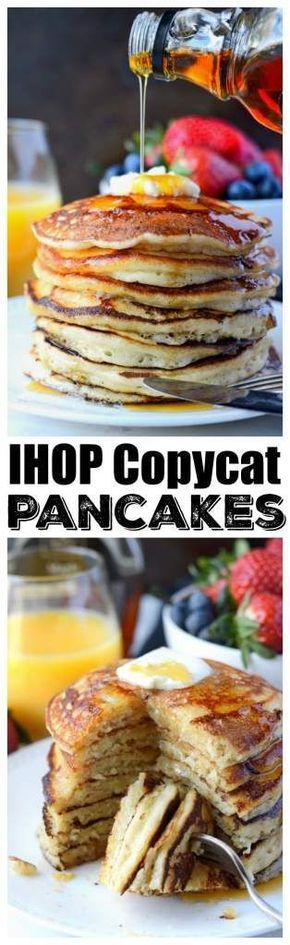 These IHOP Copycat Pancakes recipe are super soft and fluffy, and amazingly delicious! I guarantee your family will love them! #breakfast #pancakes #ihoppancakes