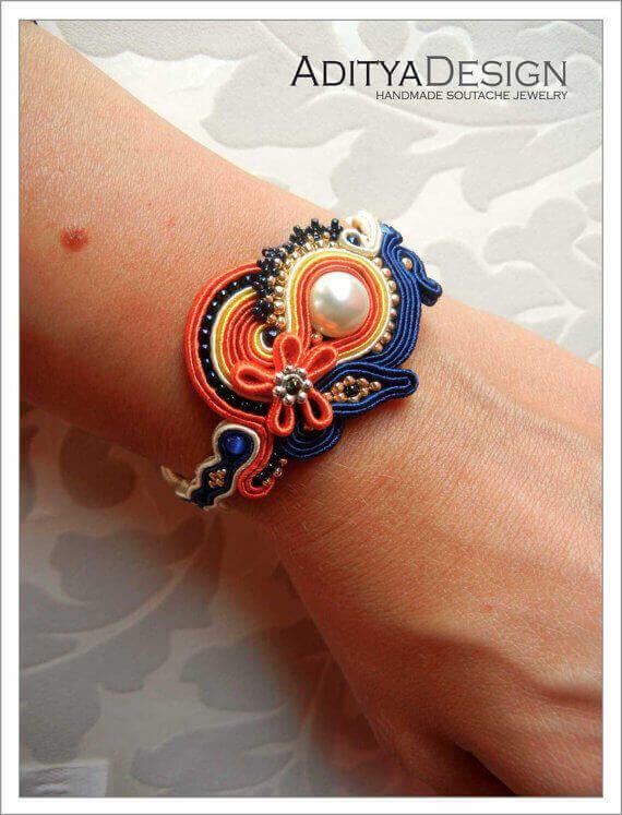 Orange Blue Inspired Jewelry Designs by AdityaDesign