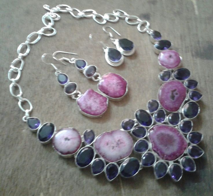 Solar quartz statement necklace.