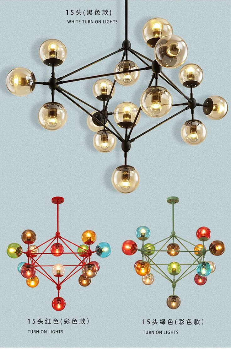 Post modern Magic glass ball Chandelier Led luminaria Hotel Cafe bar light living room contemporary novelty lighting Chandeliers *** More info could be found at the image url.