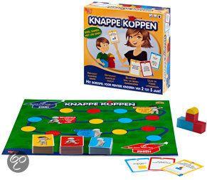 Knappe Koppen is een bordspel voor ouders die graag samen met hun kind leren. De ontwikkeling van het kind staat centraal en wordt spelenderwijs gestimuleerd. Kinderen hoeven niet te slagen in hun opdrachten, bij Knappe Koppen draait het om het proberen! En hét aanmoedigen van het kind. Geschikt voor kinderen vanaf 2 jaar.