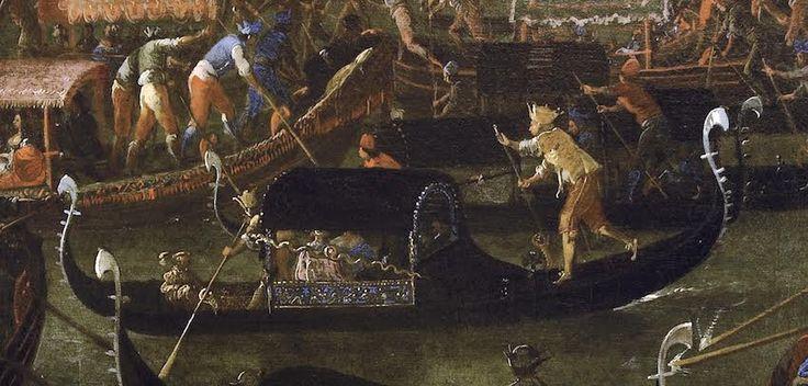 Joseph Heinz il Giovane, Fresco di barche a Murano durante al Sensa, Museo…