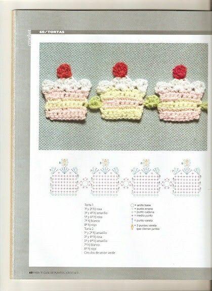 Aplique pastel crochet patron