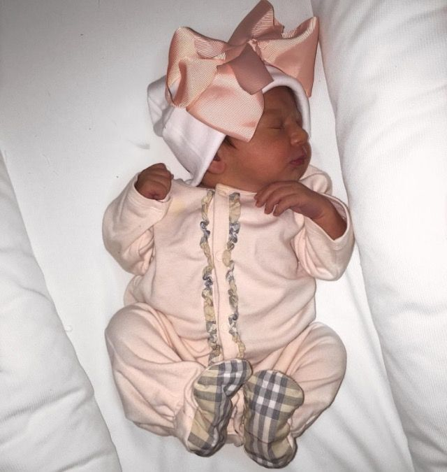 Baby girl take home outfit.