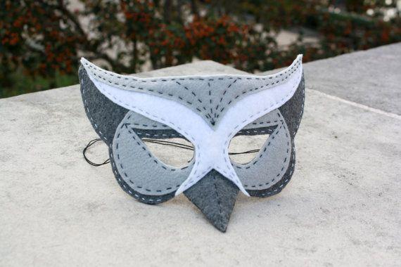 Handstitched Felt Mask, The Owl