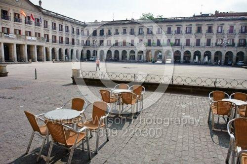 España Square, The main plaza in Vitoria Gasteiz, Spain