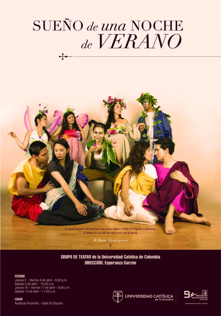 """Bienestar Universitario estrena la obra de teatro """"Sueño de una Noche de Verano"""". Si quieres asistir a la premier visita: http://goo.gl/1BU3oK"""