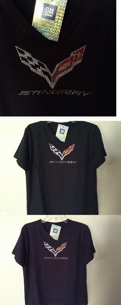 T-Shirts 63869: Ladies C7 Corvette T-Shirt V-Neck Stingray Rhinestones S-Xl32.00+2Xl Fs New -> BUY IT NOW ONLY: $32 on eBay!