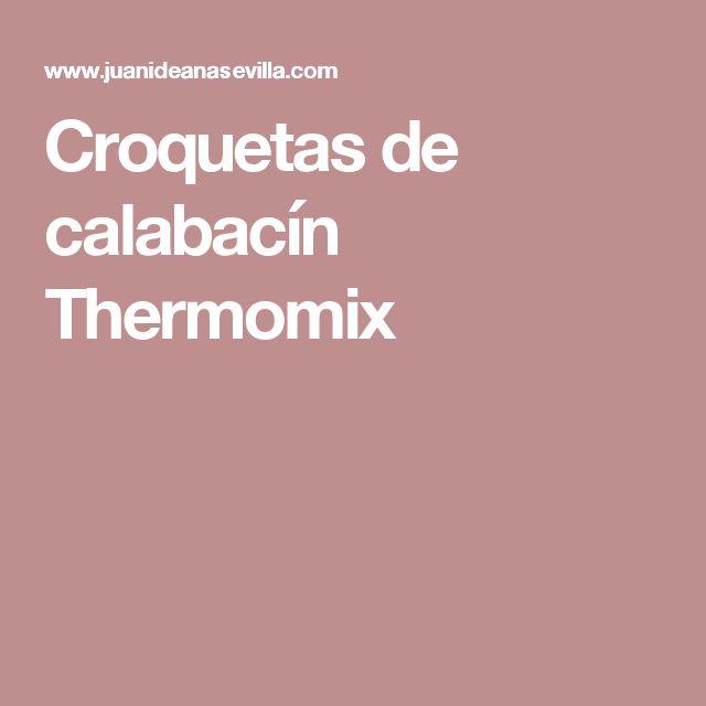 Croquetas de calabacín Thermomix