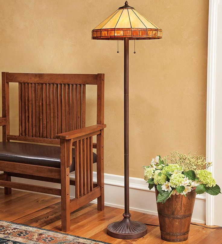 Plow Tiffany Style Stained Glass Mission Floor Lamp Guest Room From Hearth On Catalog Spree