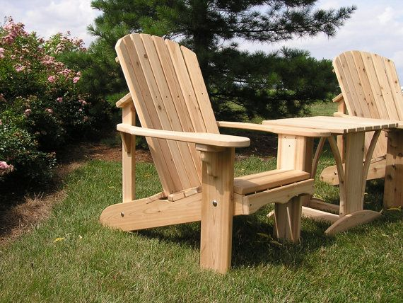 (1) ADIRONDACK CHAIR KIT UNFINISHED This attractive Adirondack chair is constructed of solid 1 Western Red Cedar, stainless steel screws and exterior urethane glue. This chair is functional, sturdy and beautiful. This chair wont get hot to your touch like a plastic chair will, when