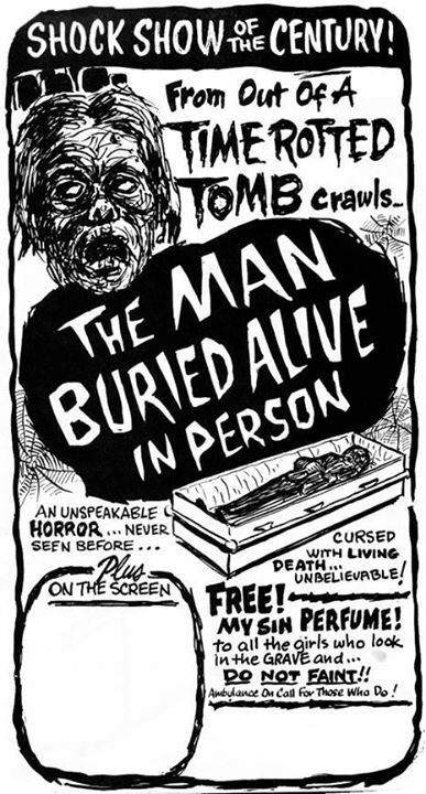 Vintage Spook Show poster (1950s)