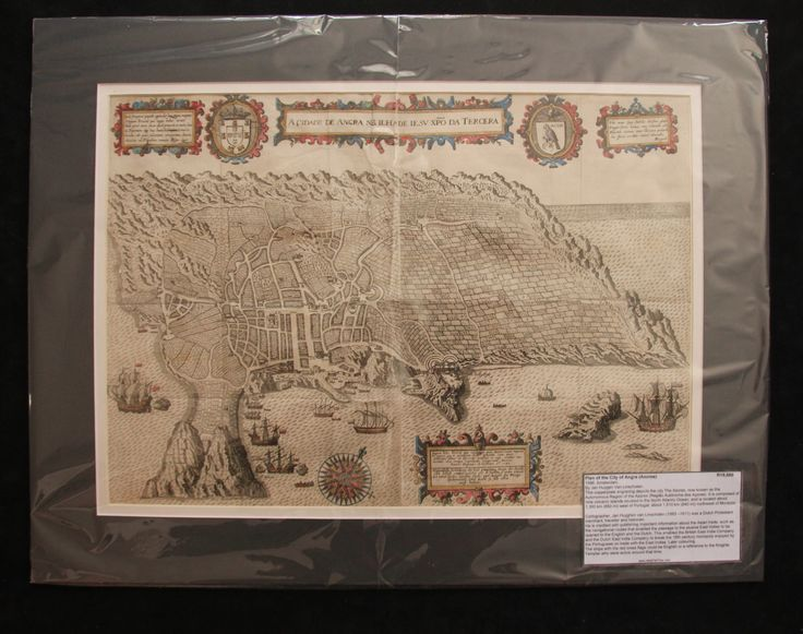 Plan of the City of Angra (Azores) by Jan Huyghen van Linschoten 1596
