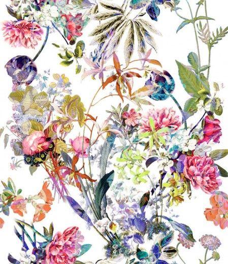 Circuito das estampas! Qual você gosta mais? Vamos começar pelos florais - olha esse coloridão com fundo branco, clima de ilustração botânica. É da Berlan