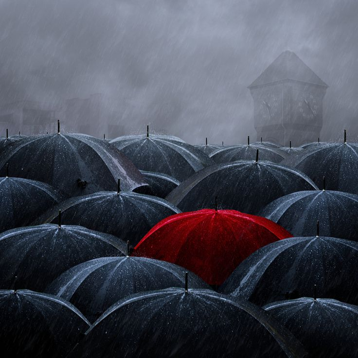 """umbrellas again; my husband said, """"What is it with you and umbrellas"""" and I don't know."""