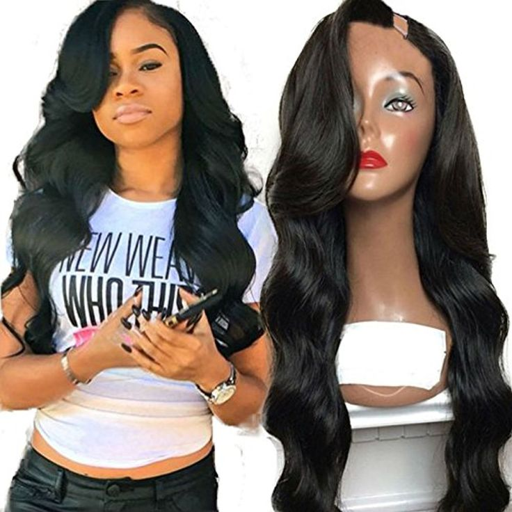 Wigs for Black Women Human Hair U Part Wigs Natural Color 20 Inch 180 Density * Read more  at the image link. (This is an affiliate link and I receive a commission for the sales)