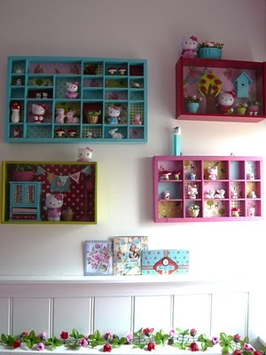 Cute Nic Nac shelf except kids want to play with their toys.  Have not met a 2 year old that likes to look at their toys