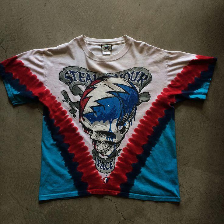 2003 grateful dead liquid blue tie dye size m measures 21