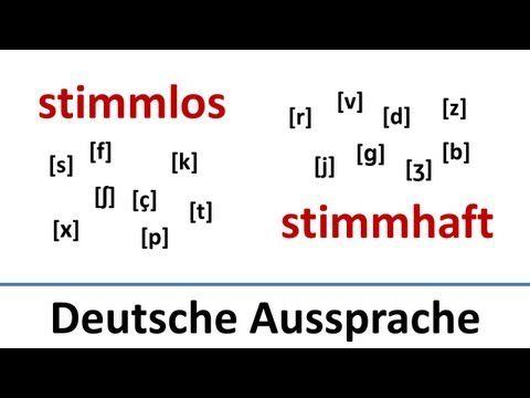 Deutsch: Stimmlose und stimmhafte Laute, Aussprache von CH, R, F, V usw.