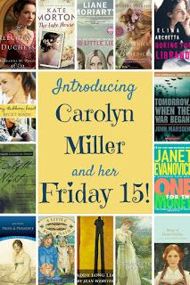 Today at Iola's Christian Reads: Australian author Carolyn Miller shares her 15 favourite authors: